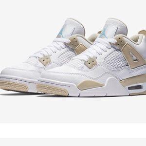 White & Tan Jordans 4s